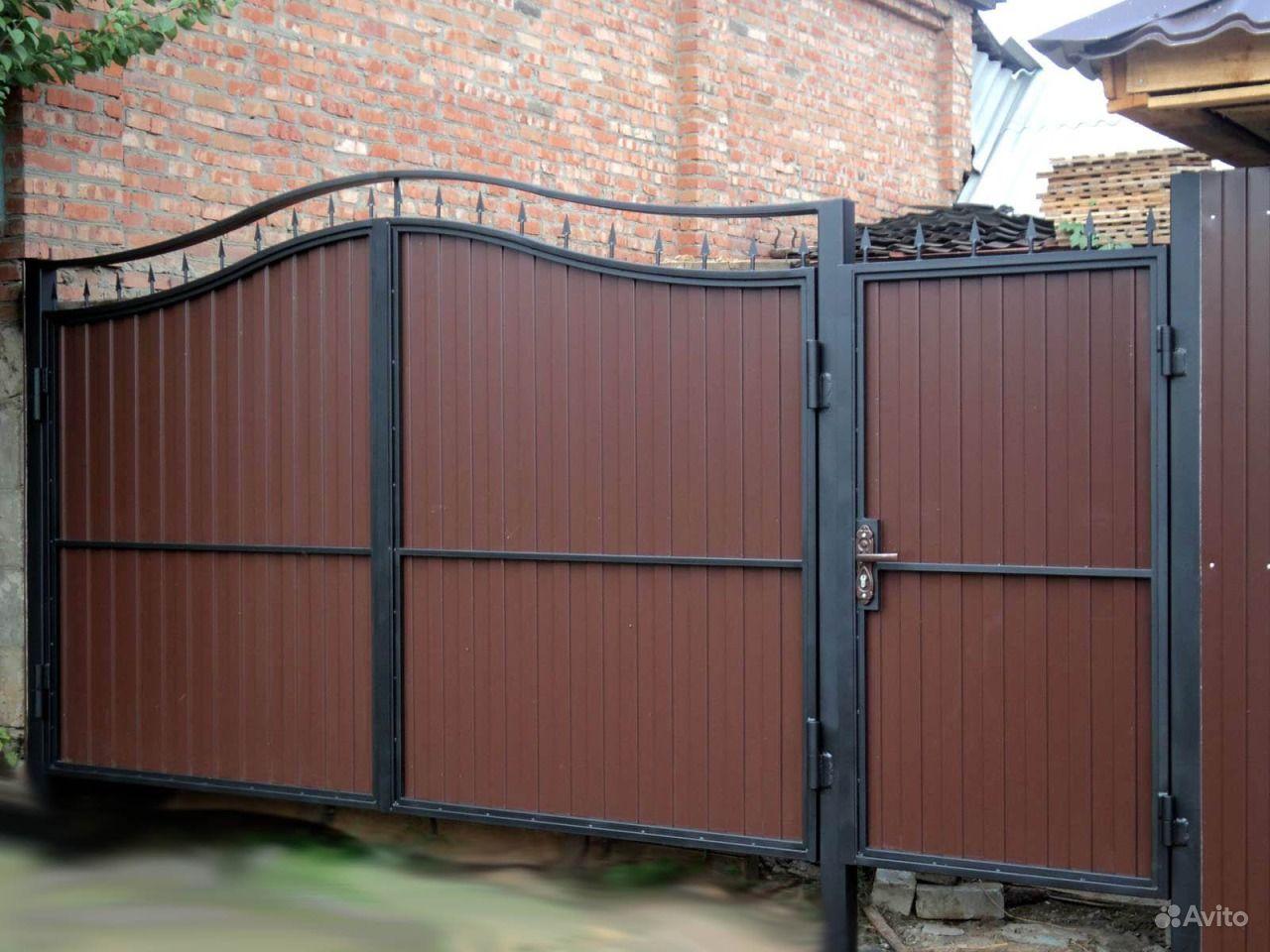 Ворота с птоф листа с фото откатные ворота с проф листа