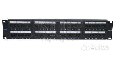 Патч-панель неэкранированная SNR, Cat. 5E, 19, 2U, 48 портов цена 11