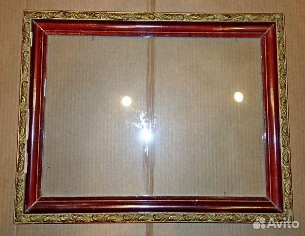 Рамка со стеклом для картины из потолочного плинтуса