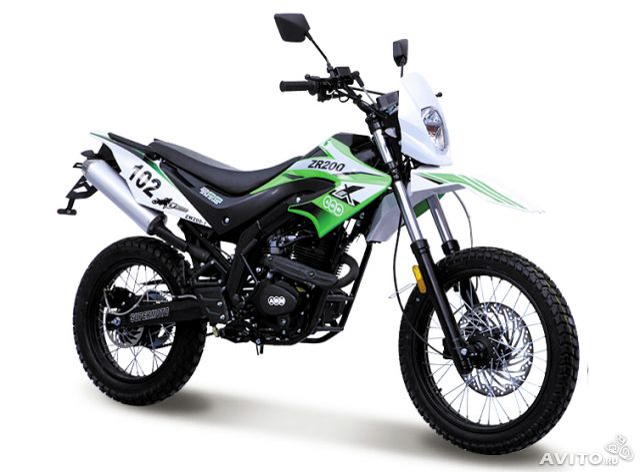 Кроссовый мотоцикл zr 200 без прав и гаи
