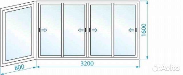Остекление балкона 3,75x1.205 под ключ арт 121 festima.ru - .