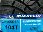 235/55R18 104T Michelin X-ICE North 2 шипы