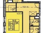 3-к квартира, 91.1 м², 3/17 эт.