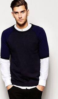 Трикотажная футболка со стегаными рукавами ASOS объявление продам