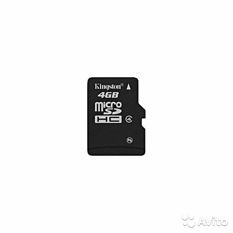 Micro SD Kingston 4 Gb— фотография №1