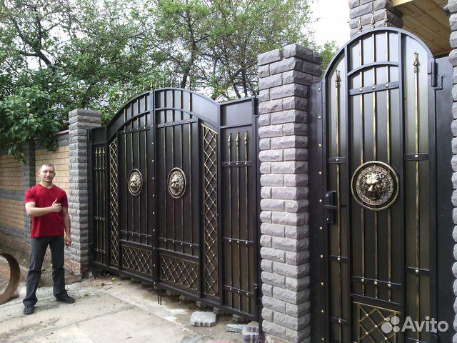 кованые ворота фото цена