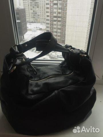 Кожаная сумка черная Francesco Marconi купить в Москве на Avito ... 2dc471ec4b5