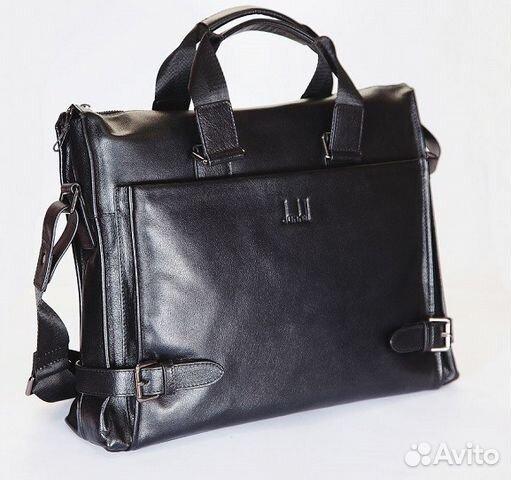 607ec6e3cdaa Мужская кожаная сумка Dunhill ноутбук 15.6 деловая купить в Москве ...