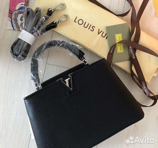 afeda8519765 Louis Vuitton Capucines Сумка GM MM LV Черная купить в Москве на ...