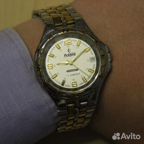 86a0762e Рекорд Стандарт мужские наручные механические часы | Festima.Ru ...