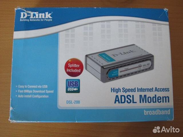 Adsl Модем D-Link DSL-200 89517017492 купить 3