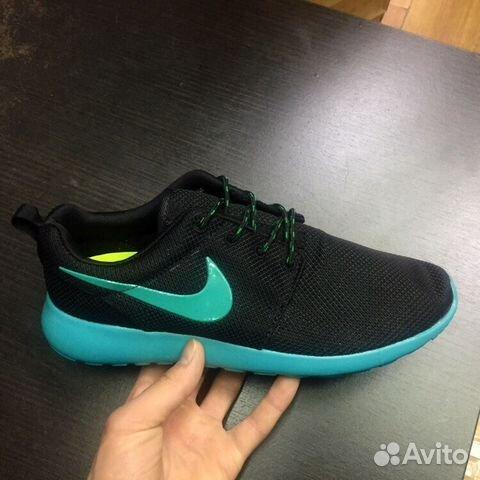 Кроссовки Nike Roshe Run синие 40-45 4a0b50918c3