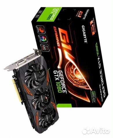 Видеокарта gigabyte GTX1080 G1 Gaming, 8Gb DDR5X