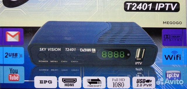 Цифровая приставка DVB-T2 Sky Vision T2401 iptv