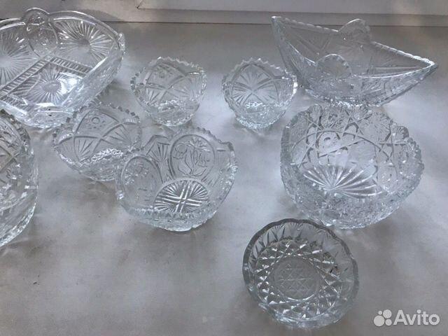 Продам графины, хрустальные вазочки, салатницы 89026306182 купить 3