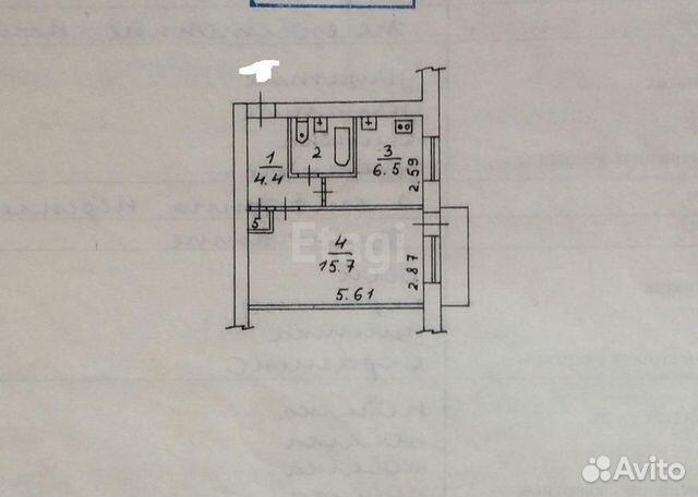 89211295488 1-к квартира, 31.3 м², 3/5 эт.