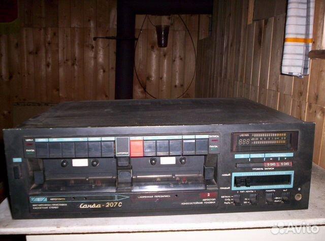 Магнитофон-приставка двухкассетная Санда 207 С
