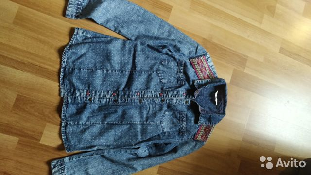 Рубашка джинсовая  купить 1