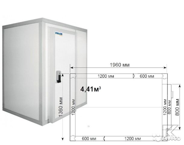 Холодильная камера на 4,4 куба
