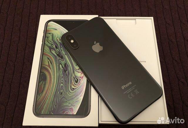 Телефон iPhone XS black 64 gb  купить 1