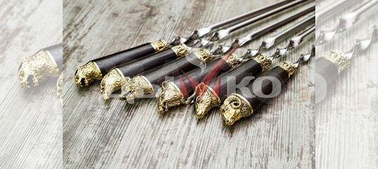 Набор шампуров подарочный, шампура, подарок