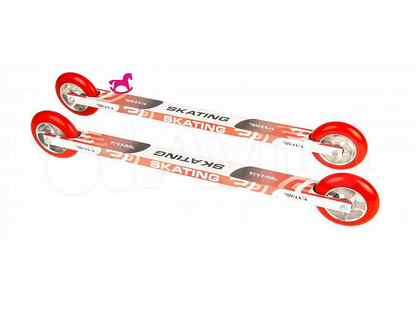 Лыжероллеры коньковые elva SK100PU ALU платформа алюминий 53см, колеса полиуретан 10х2,4см