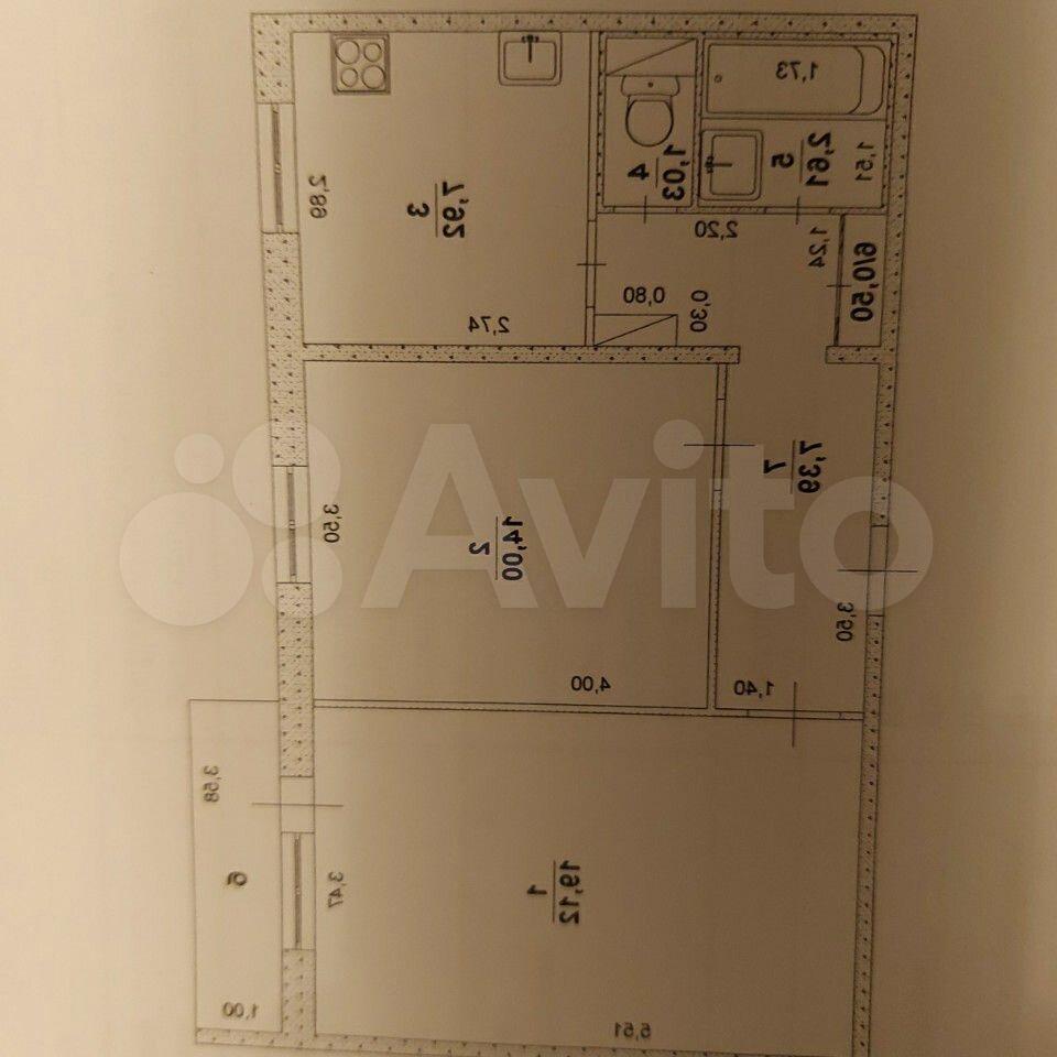2-room apartment, 52 m2, 9/10 FL. 89176035678 buy 1