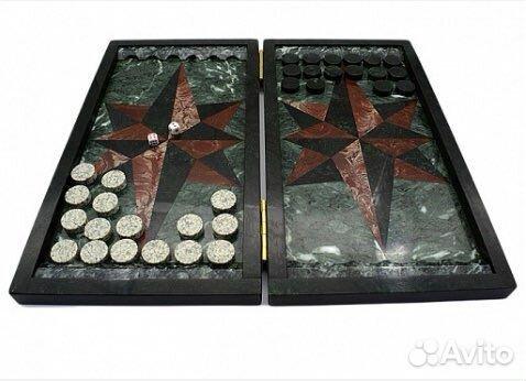 Подарочные нарды из натурального камня змеевика  89122288587 купить 1