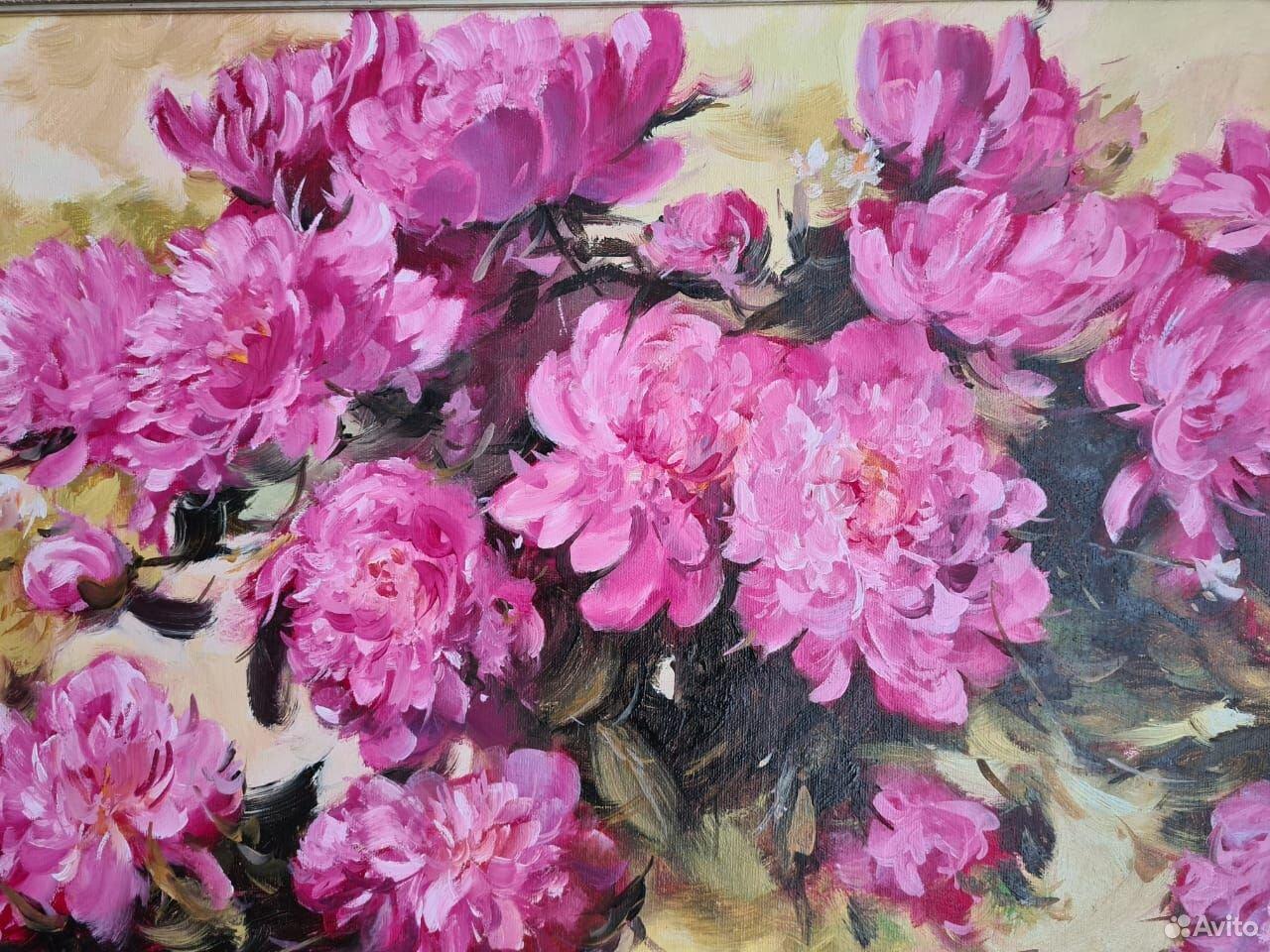 Картина пионы  89214333668 купить 3