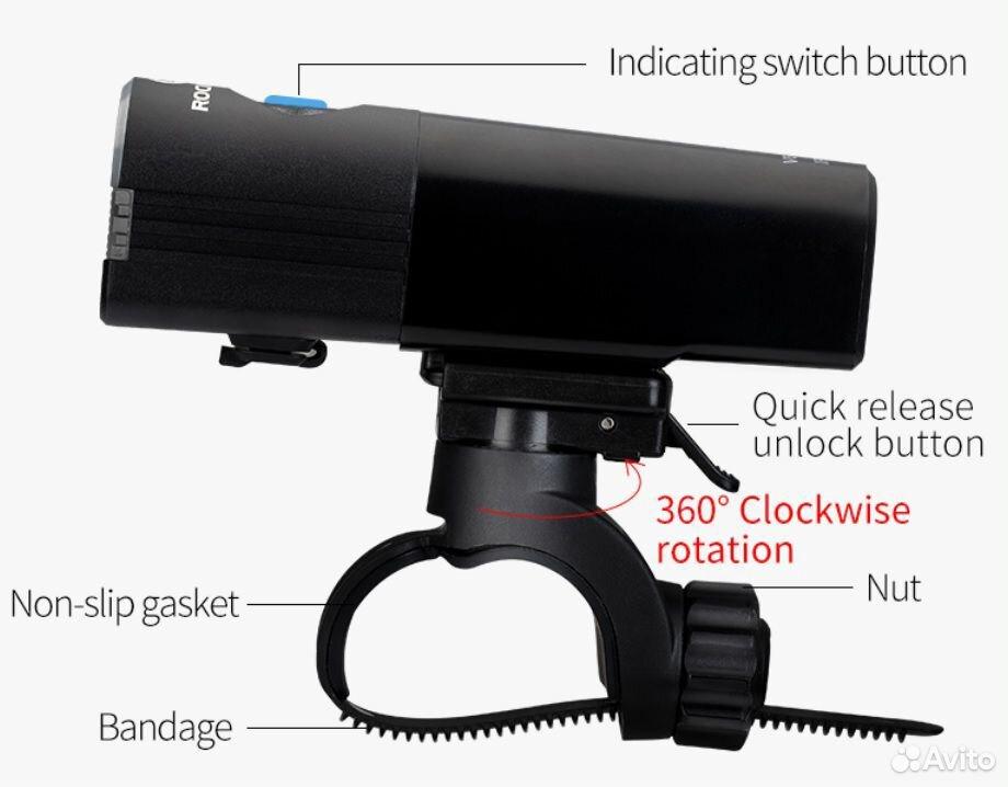 Велосипедный фонарь rockbros V6-800 89114539100 купить 4