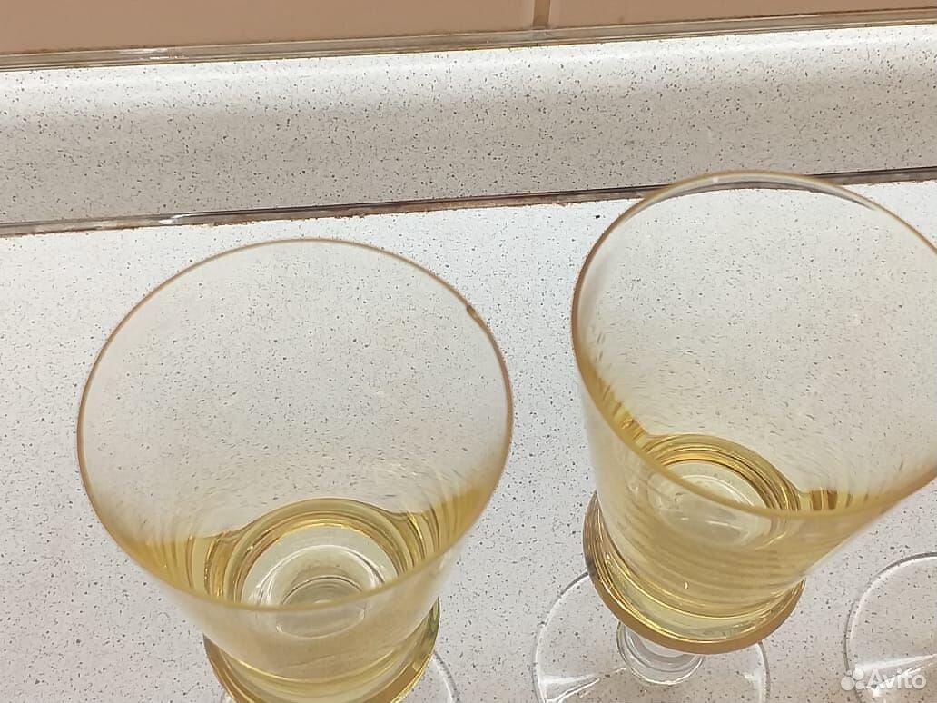 Стеклянные рюмки, бокалы из цветного стекла СССР  89807548898 купить 5