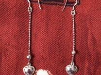 Новые серебряные серьги, подвески