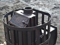 """Банная цельнолитая печь из чугуна """"Кудесница"""""""