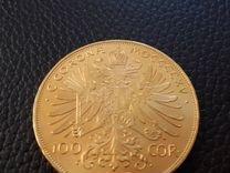 Золотая монета 100 крон Австрия 1915 г
