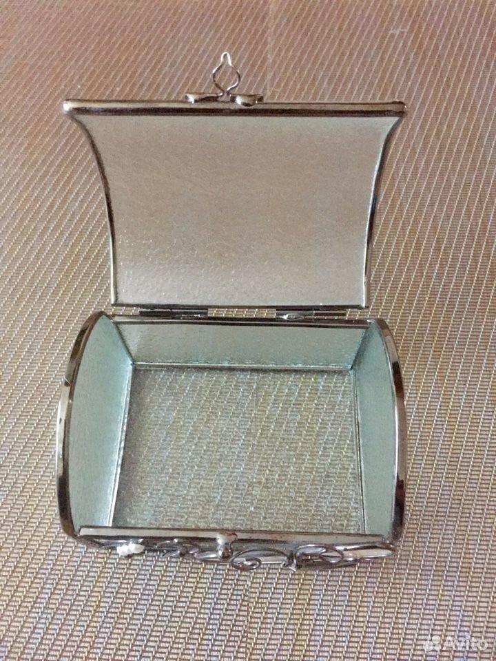 Шкатулка стекло+сталь+перламутр  89069076084 купить 5