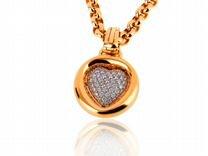 Золотой кулон с бриллиантами 1.19ct Chopard