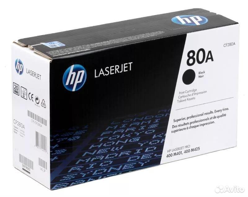 Новый оригинальный картридж HP 80A (280a)  89002979205 купить 1
