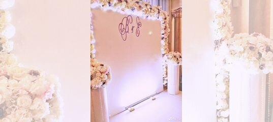 Фотозона,задник на свадьбу, цветочная стена с дост в Москве | Услуги | Авито