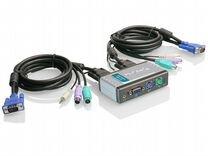 KVM переключатель D-Link KVM-121 на 2 пк