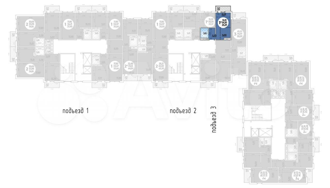 Квартира-студия, 25.3 м², 14/14 эт.  88613258698 купить 1