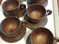Сервиз чайный из натурального материала